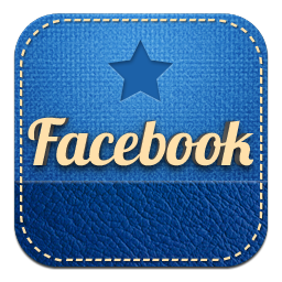 retro facebook icon