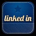 retro linkedin icon