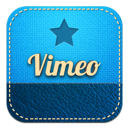 retro vimeo icon